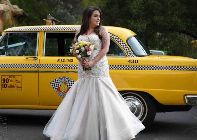 taxi and bride